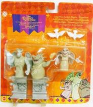 The Hunchback of Notre Dame - Mattel 1996 Action-figures - The Gargoyles : Victor, Hugo, and Laverne