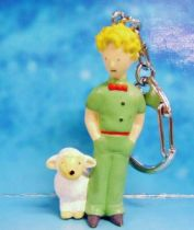 The Little Prince with Sheep (A. de St. Exupery) - PVC figure Keychain - Plastoy 1997