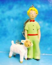 The Little Prince with Sheep (A. de St. Exupery) - PVC figure Keychain - Plastoy 2004