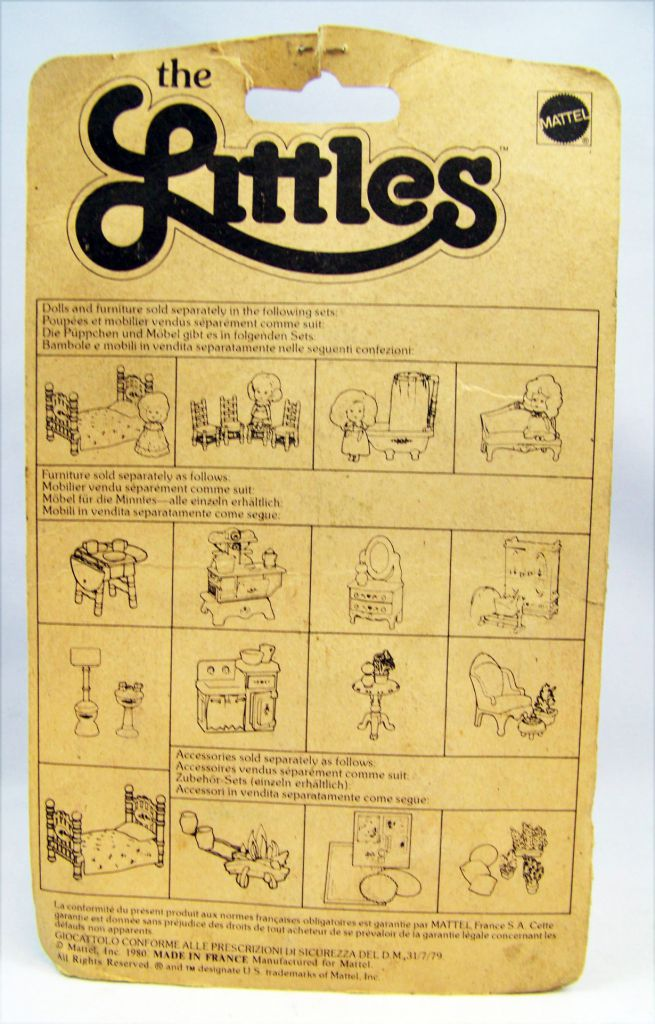 The Littles - Mattel - Diecast Furnitures: Child\'s Room Ref.1796