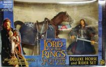 The Lord of the Rings - Aragorn on armored Brego horse - ROTK
