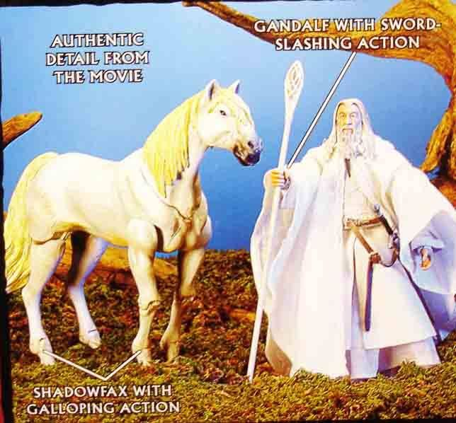 The Lord of the Rings - Gandalf the White on Shadowfax horse - TTT