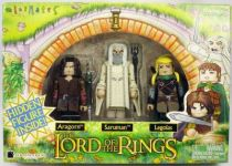 The Lord of the Rings - Minimates - Aragorn, Saruman, Legolas