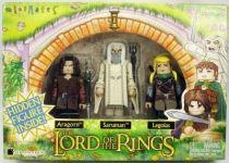 The Lord of the Rings - Minimates - Aragorn, Saruman, Legolas