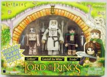 The Lord of the Rings - Minimates - Gollum, Gandalf the White, Frodo