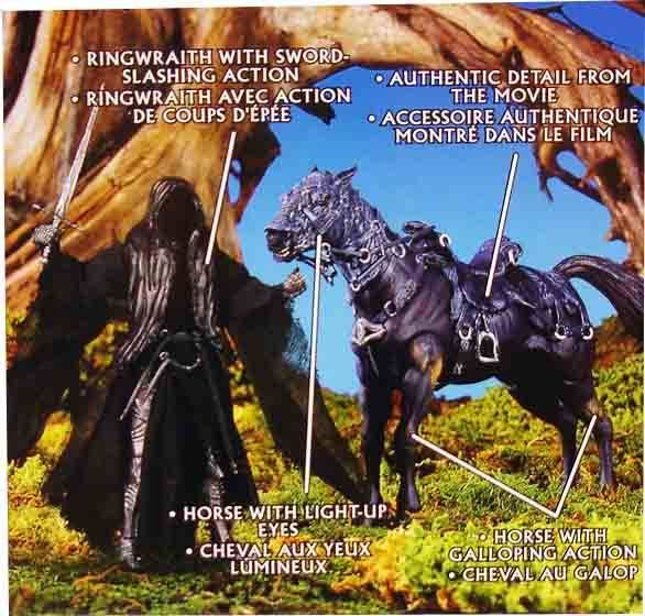 The Lord of the Rings - Ringwraith and Horse with Frodo - FOTR