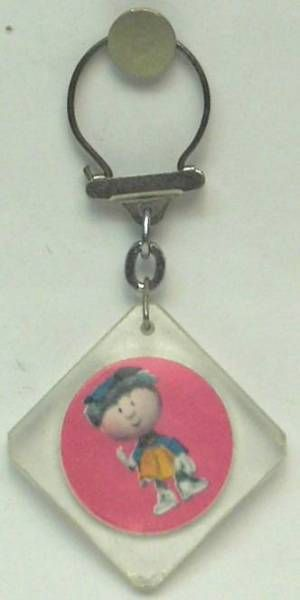 The Magic Roundabout,  square key-chain Florence purple background