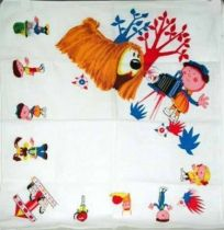 The Magic Roundabout, fabrics napkin