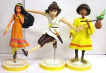 The Mysterious Cities of Gold - Set of 3 statues - Estaban, Zia, Tao & Pichu - Custom Arts