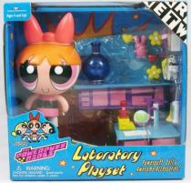 The Powerpuff Girls Les Supers Nanas - Laboratory Playset & Belle - Trendmasters