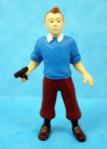 The Secret of the Unicorn - Plastoy pvc figure - Tintin with pistol