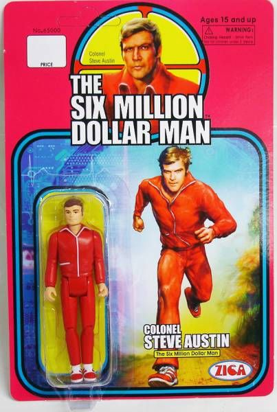 The Six Million Dollar Man - Zica - Set of 3 figures : Colonel Steve Austin & Bionic Bigfoot