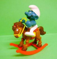 The Smufs - Schleich - 40221 Smurf on Reg Hobby Horse