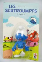 The Smurfs - Céji Bendable Figure - Flutist Smurf (mint on card)