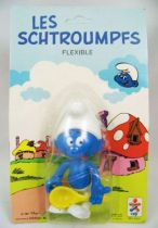 The Smurfs - Céji Bendable Figure - Greedy Smurf (mint on card)