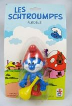 The Smurfs - Céji Bendable Figure - Papa Smurfs (mint on card)
