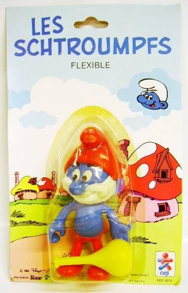 The Smurfs - Céji Bendable Figures - Set of 6 Smurfs (mint on card)