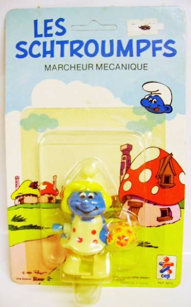 The Smurfs - Céji Wind up - Smurfette (mint on card)