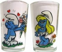 The Smurfs - Mustard glass Benedictin - Loving Smurf of Smurfette