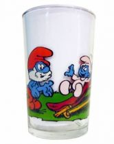 The Smurfs - Mustard glass Maille - Baby-Smurf, Smurfette & Papa Smurf