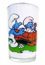 The Smurfs - Mustard glass Maille - Smurfs & Baby-Smurf