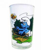 The Smurfs - Mustard glass Maille - Smurfs & the butterflies
