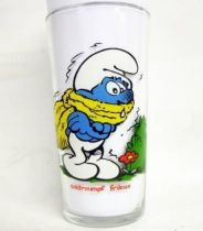The Smurfs - Mustard glass Maille 1983 - Chilly Smurf