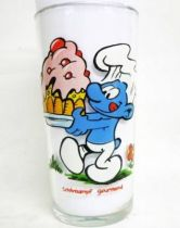 The Smurfs - Mustard glass Maille 1983 - Gourmet Smurf