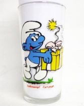 The Smurfs - Mustard glass Maille 1983 - Jokey Smurf
