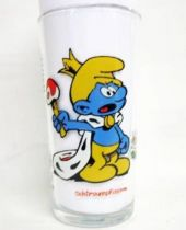 The Smurfs - Mustard glass Maille 1983 - King Smurf