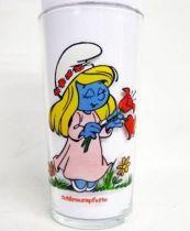 The Smurfs - Mustard glass Maille 1983 - Smurfette