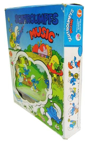 The Smurfs - Piano - Smurf Table Piano (mint in box) - Orli-Jouet / Faiplast