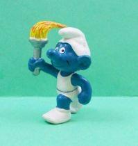 The Smurfs - Schleich - 20030 Flam Holder Smurf (white)