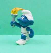 The Smurfs - Schleich - 20030 Flam Holder Smurf (white)