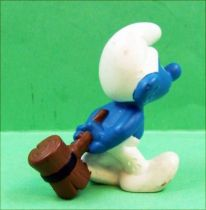The Smurfs - Schleich - 20096 Wood-hammer Smurf (dark)