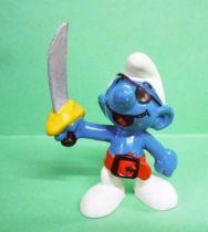 The Smurfs - Schleich - 20104 Pirate Smurf (red belt)