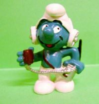 The Smurfs - Schleich - 20143 C.B. Smurf (iron color)