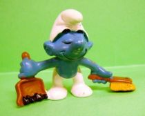 The Smurfs - Schleich - 20189 Smurf with shovel & small brush