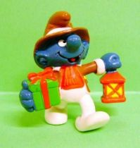 The Smurfs - Schleich - 20201 Christmas Smurf with gift and lamp