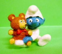The Smurfs - Schleich - 20205 Baby Smurf with Teddy Bear