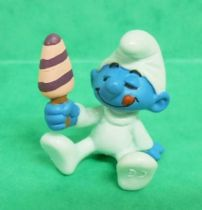 The Smurfs - Schleich - 20206 Baby Smurf with Ice Cream