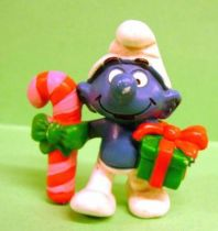 The Smurfs - Schleich - 20207 Christmas Smurf with stick and gift