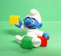 The Smurfs - Schleich - 20214 Baby Smurf with Blocks