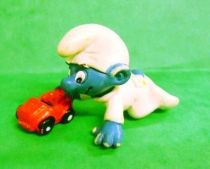 The Smurfs - Schleich - 20215 Baby Smurf with Car