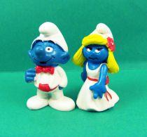 The Smurfs - Schleich - 20216 Tuxedo Smurf and 20217 Grown Smurfette