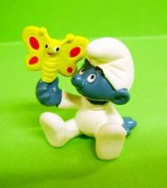 The Smurfs - Schleich - 20218 Baby Smurf with butterfly