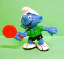 The Smurfs - Schleich - 20227 Table Tennis player Smurf (green shirt)