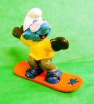 The Smurfs - Schleich - 20452 Snowboarder Smurf