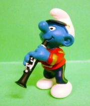 The Smurfs - Schleich - 20486 Smurf on parade playing Clarinet