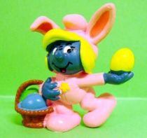 The Smurfs - Schleich - 20497 Easter pink bunny Smurf